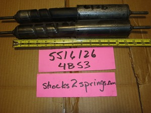 Delco spiral shock #5516126 date code 4B53  NOS - 1 PAIR - S   S   13.5""