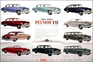 1952 plymouth line sheet