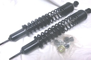 CHEVY REAR SPRING ASSISTED SHOCKS, coil over shocks, load leveler shocks, booster shocks, load carring shocks, 1949-79